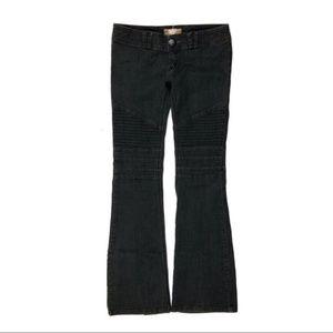 Free People 27 Skinny Kick Flare Moto Jeans